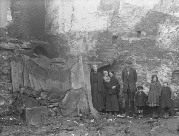 Waterford City squalor: a family photographed on Alexander Street ...